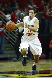 03 December 2011:  Nic Moore during an NCAA mens basketball game where the University of North Carolina at Wilmington Seahawks defeated the Illinois State Redbirds 63-54 inside Redbird Arena, Normal IL
