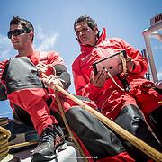 © María Muiña I MAPFRE: Joan Vila y Blair Tuke entrenando a bordo del MAPFRE. Joan Vila and Blair Tuke training on board MAPFRE.
