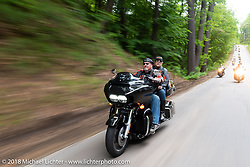 Gypsy Tour ride to the Gunstock resort during Laconia Motorcycle Week. NH, USA. Thursday, June 14, 2018. Photography ©2018 Michael Lichter.