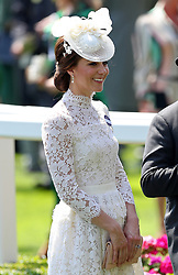 Kate, the Duchess of Cambridge during day one of Royal Ascot at Ascot Racecourse.
