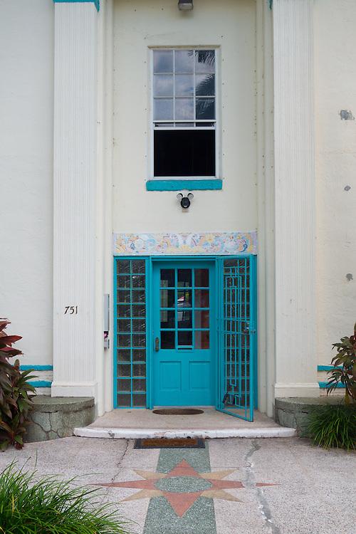 Terrazzo terrace of 751 Euclid Avenue, Miami Beach