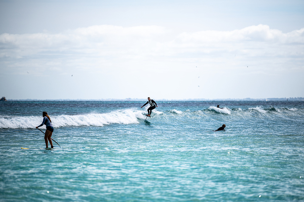 Stand Up Surf Shop staff Christmas Party at Rottnest Island. Photo: Drew Malcolm