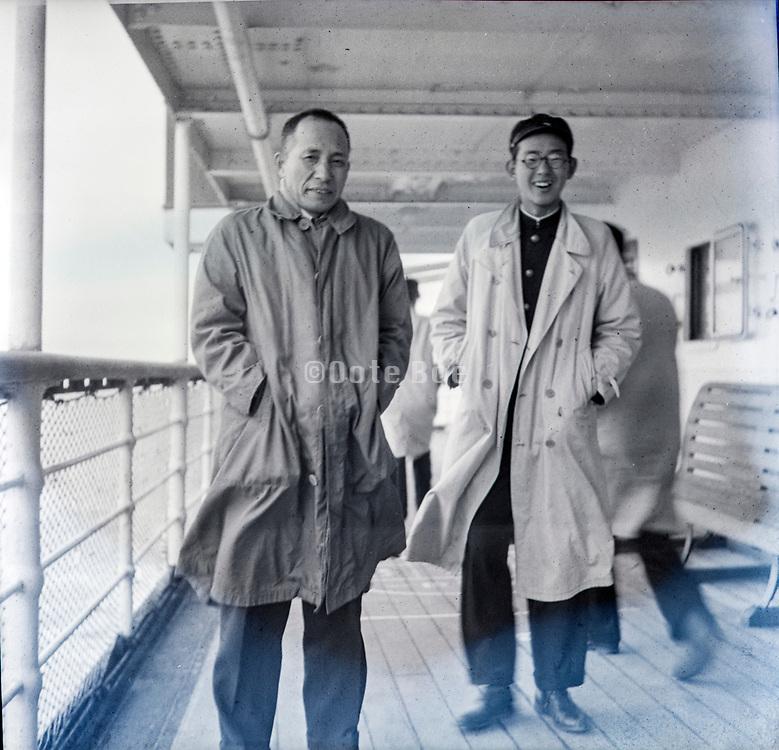 on a ship Japan ca 1940s