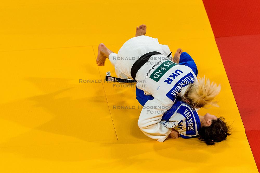 16-11-2018 NED: Grand Prix The Hague 2018, Den Haag<br /> Final -48 kg, CHERNIAK, M. UKR (white) vs. XIONG, Y CHN (blue)