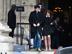 Raphael and Melanie Thierry leaving the funeral service for late photographer Peter Lindbergh held at Saint Sulpice church in Paris, France on September 24, 2019. Photo by ABACAPRESS.COM