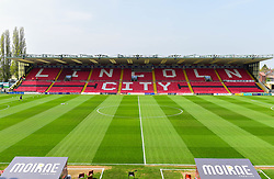 General view inside Sincil Bank Stadium - Mandatory by-line: Alex James/JMP - 22/04/2019 - FOOTBALL - Sincil Bank Stadium - Lincoln, England - Lincoln City v Tranmere Rovers - Sky Bet League Two
