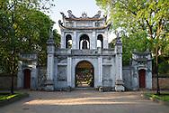 Entrance gate of Temple of Literature, Hanoi, Vietnam, Southeast Asia
