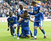 Photo: Steve Bond/Richard Lane Photography<br />Leicester City v MK Dons. Coca-Cola League One. 09/08/2008. Matty Fryatt (kneeling) celebrates