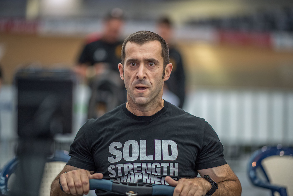 Ross Gilray  MALE HEAVYWEIGHT Masters C 2K Race #1 08:30am<br /> <br /> www.rowingcelebration.com Competing on Concept 2 ergometers at the 2018 NZ Indoor Rowing Championships. Avanti Drome, Cambridge,  Saturday 24 November 2018 © Copyright photo Steve McArthur / @RowingCelebration