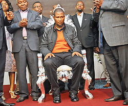 GAME OF THRONES: Mandla Mandela Mandla Mandela at a service of the eThekwini Community Church yesterday (((sun)). Mandela and other members of the Tembu Royal Clan joined the congregation  in prayer for him and his family and the recovery of his grandfather, former president Nelson Mandela. Picture: Patrick Mtolo