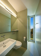 Bathroom of a modern house, sink and toilet