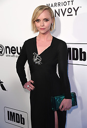 Christina Ricci attending the Elton John AIDS Foundation Viewing Party held at West Hollywood Park, Los Angeles, California, USA.