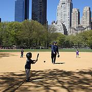 Baseball scenes in New York