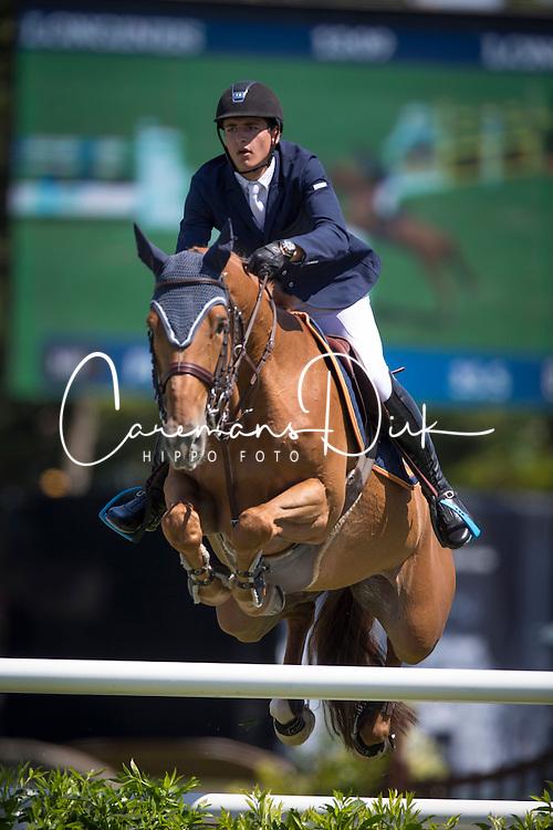 Philippaerts Nicola (BEL) - Donatella N<br /> Grand Prix Longines de la Ville de La Baule<br /> Longines Jumping International La Baule 2014<br /> © Hippo Foto - Dirk Caremans