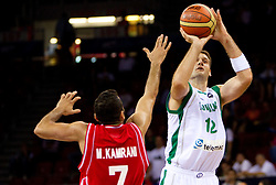 Goran Jagodnik of Slovenia during  the Preliminary Round - Group B basketball match between National teams of Slovenia and Iran at 2010 FIBA World Championships on September 2, 2010 at Abdi Ipekci Arena in Istanbul, Turkey. (Photo By Vid Ponikvar / Sportida.com)