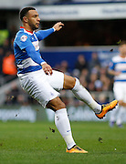Queens Park Rangers midfielder and top goal scorer Matt Phillips watches his shot during the Sky Bet Championship match between Queens Park Rangers and Ipswich Town at the Loftus Road Stadium, London, England on 6 February 2016. Photo by Andy Walter.