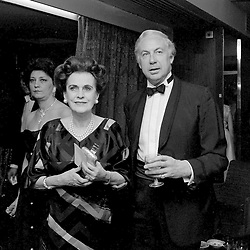 15 May 1986 - Margaret, Duchess of Argyll and David Ashton-Bostock at a ball in London<br /> <br /> Photo by Desmond O'Neill Features Ltd.  +44(0)1306 731608  www.donfeatures.com