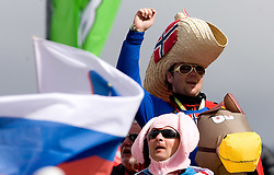 Norwegian fans during Flying Hill Team Second Round at 4th day of FIS Ski Flying World Championships Planica 2010, on March 21, 2010, Planica, Slovenia.  (Photo by Vid Ponikvar / Sportida)