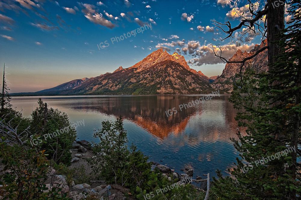 Sunrise touching the peak of  Inspirational point