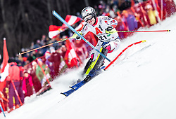 """29.01.2019, Planai, Schladming, AUT, FIS Weltcup Ski Alpin, Slalom, Herren, 1. Lauf, im Bild Julien Lizeroux (FRA) // Julien Lizeroux of France in action during his 1st run of men's Slalom """"the Nightrace"""" of FIS ski alpine world cup at the Planai in Schladming, Austria on 2019/01/29. EXPA Pictures © 2019, PhotoCredit: EXPA/ JFK"""