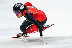 Alyson Charles CAN in action on the 500 meter during ISU World Cup Finals Shorttrack 2020 on February 14, 2020 in Optisport Sportboulevard Dordrecht.