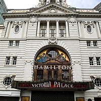 Hamilton at the Victoria Palace;<br />Theatres in lockdown;<br />West End Theatreland, London, UK;<br />7th July 2020.<br /><br />© Pete Jones<br />pete@pjproductions.co.uk