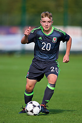 NEWPORT, WALES - Tuesday, July 24, 2018: Caio Evans during the Welsh Football Trust Cymru Cup 2018 at Dragon Park. (Pic by Paul Greenwood/Propaganda)