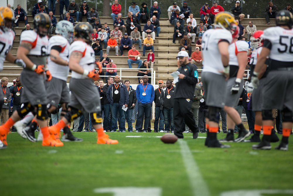 Photos during activities during week leading up to 2016 Senior Bowl, including the weigh in and practice. Photo by Kevin D. Liles for Sports Illustrated