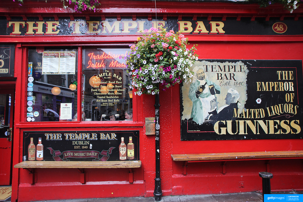 The Temple Bar Pub in Temple Bar, Dublin, Ireland. Photo Tim Clayton