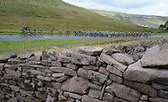 action from the Tour of Britain cycle race, stage 5, as the peloton makes its way through the Brecon Beacons in Wales pic by Andrew Orchard,