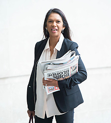 The Andrew Marr Show <br /> at the BBC, Broadcasting House, London, Great Britain <br /> 9th September 2018 <br /> <br /> <br /> Gina Miller<br /> businesswoman and campaigner<br /> <br /> <br /> Photograph by Elliott Franks