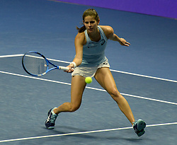 January 30, 2018 - St. Petersburg, Russia - Russia, St. Petersburg, on January 30, 2018. International female tennis tournament of WTA ''St.Petersburg Ladies Trophy 2018''. In picture: Julia Goerges (Germany) in match of female singles on the St.Petersburg Ladies Trophy 2018 tournament against Maria Sakkari  (Credit Image: © Andrey Pronin via ZUMA Wire)