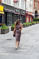 Zoe Hardman spotted leaving  Hart radio london 4th july 2020 photo by Mark anton smith