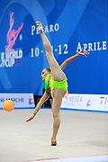 Olsson Elsie Josefin during qualifying at ball in Pesaro World Cup at Adriatic Arena on 10 April 2015. Josefin was born on March 4, 1998 in Landskrona. She is an Swedish individual rhythmic gymnast.
