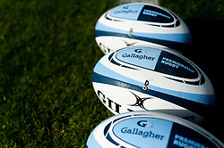 Gallagher Premiership Rugby Sirius Match Balls prior to kick off - Mandatory by-line: Ryan Hiscott/JMP - 19/10/2019 - RUGBY - Sandy Park - Exeter, England - Exeter Chiefs v Harlequins - Gallagher Premiership Rugby