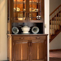 walnut and glass<br /> This piece of furniture was designed and built for a family in Jamestown, Co.