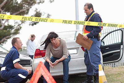 Car accident scene (Credit Image: © Image Source/Albert Van Rosendaa/Image Source/ZUMAPRESS.com)