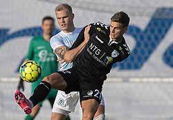 Philip Rejnhold (FC Helsingør) og Oliver Drost (Kolding IF) under kampen i 1. Division mellem FC Helsingør og Kolding IF den 24. oktober 2020 på Helsingør Stadion (Foto: Claus Birch).