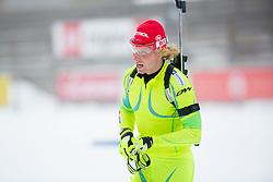 Klamen Bauer during practice session of Slovenian biathlon team before new winter season 2012/13 on November 19, 2012 in Rudno polje, Pokljuka, Slovenia. (Photo By Vid Ponikvar / Sportida)