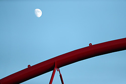 August 21, 2018 - Lisbon, Portugal - The moon rise over the Luz Stadium during the UEFA Champions League play-off first leg match SL Benfica vs PAOK FC in Lisbon, Portugal on August 21, 2018. (Credit Image: © Pedro Fiuza/NurPhoto via ZUMA Press)
