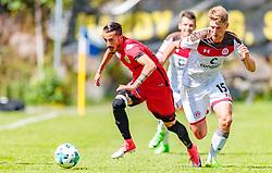 16.07.2017, Sportplatz Buergerau, Saalfelden, AUT, Testspiel, FC St. Pauli vs FC Wil 1900, im Bild Shaho Maroufi (FC Wil 1900), Daniel Buballa (FC St. Pauli) // during the Friendly Football Match between FC St. Pauli and FC Wil 1900 at the Stadion Buergerau, Saalfelden, Austria on 2017/07/16. EXPA Pictures © 2017, PhotoCredit: EXPA/ JFK