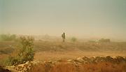 Walking home - Mid-day Sun Landscape - Podor Senegal