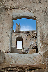 Ruins on the island of Naxos in Greece
