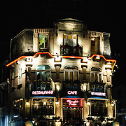 Restaurant at night in Reims France