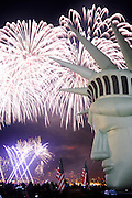 Fireworks erupt during the Family 4th over Lake Union at Gas Works Park in Seattle.<br /> Seattle Times staff photographer
