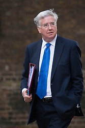 Downing Street, London July 15th 2014. New Defence Secretary Michael Fallon arrives at 10 Downing Street.