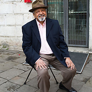 Nobel Prize V S Naipaul poses in Venice ahead of her talk for the Incontri di Civilta'  event ----------------------<br /> Marco Secchi/XianPix<br /> email msecchi@gmail.com<br /> http://www.marcosecchi.com