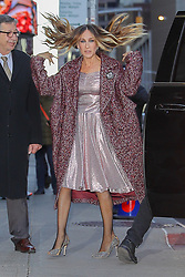 Sarah Jessica Parker looks radiant when arriving at The Late Show with Stephen Colbert in New York City. 30 Oct 2018 Pictured: Sarah Jessica Parker. Photo credit: MEGA TheMegaAgency.com +1 888 505 6342