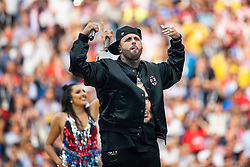 July 15, 2018 - Moscow, Russia - 180715 An artist singing at the closing ceremony prior to the FIFA World Cup final match between France and Croatia on July 15, 2018 in Moscow..Photo: Petter Arvidson / BILDBYRÃ…N / kod PA / 92087 (Credit Image: © Petter Arvidson/Bildbyran via ZUMA Press)