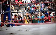 Young spectators at boxing ring, Havana, Cuba